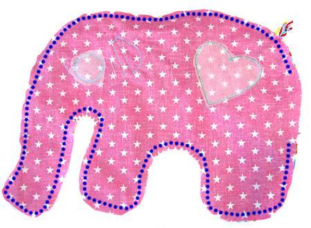 Elefantös Sitzkissen - Initiative Handarbeit