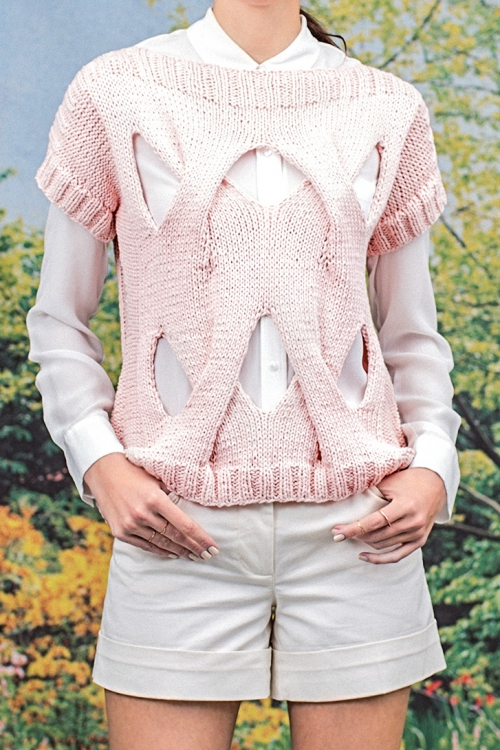 Cut Out Pullover Initiative Handarbeit