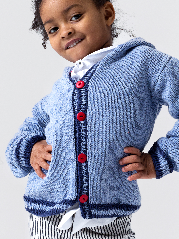 Kapuzenjacke für Kinder – Initiative Handarbeit