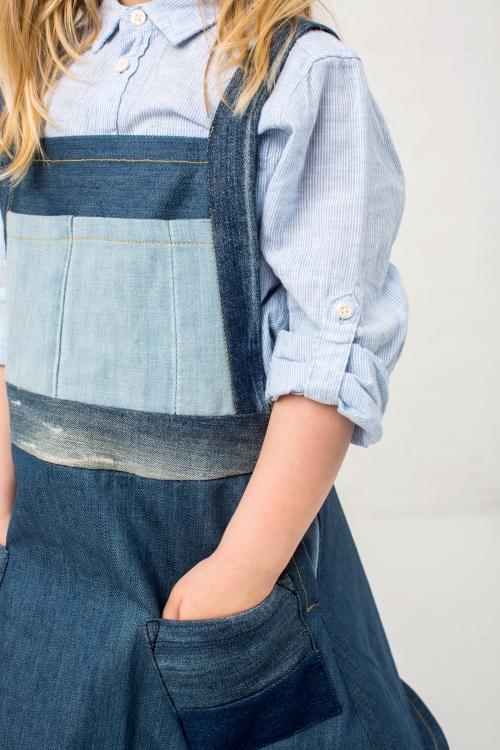 Kleid aus jeans nahen