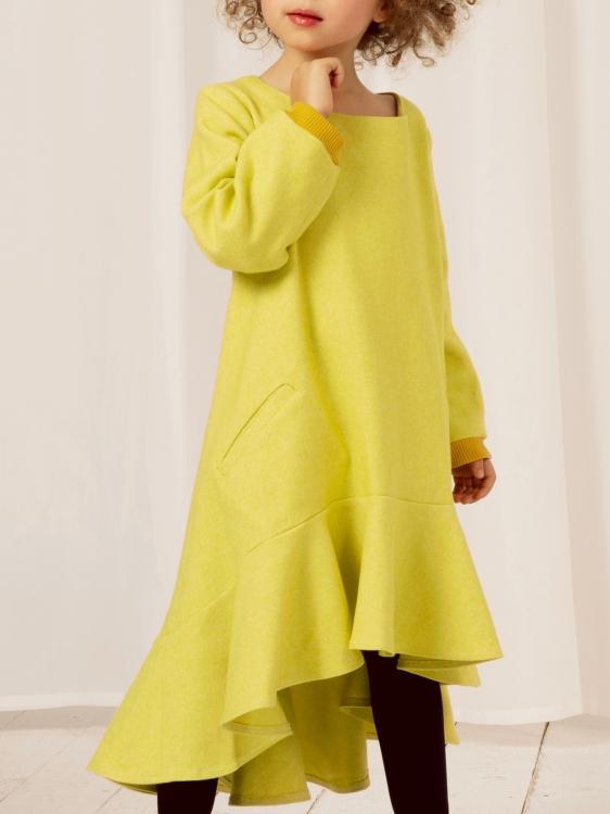 Kleid mit Volants - Initiative Handarbeit