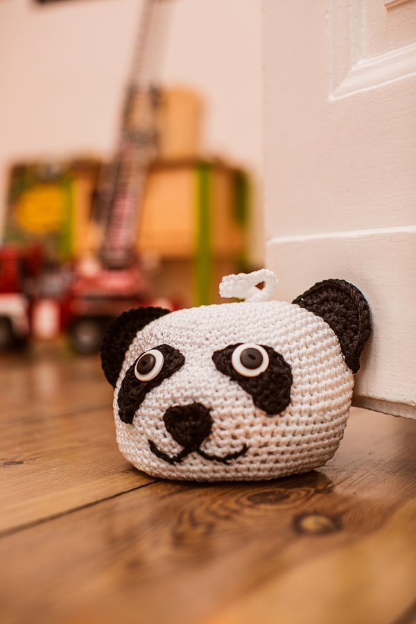 Panda Türstopper Initiative Handarbeit