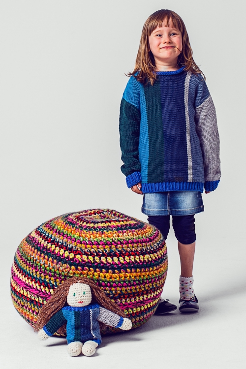 Pouf Pullover Puppe Initiative Handarbeit