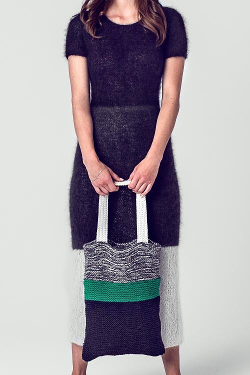 Kostenlose Anleitung Strickkleid Tasche Initiative Handarbeit