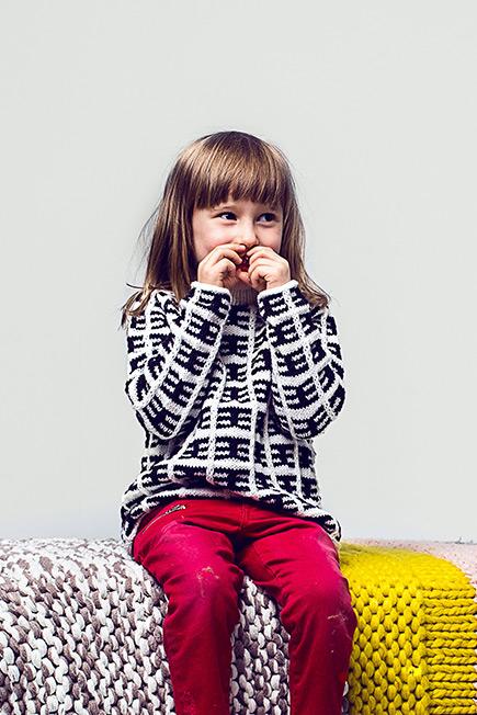 Kinderpullover Initiative Handarbeit
