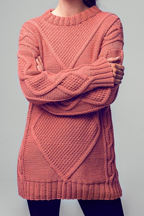 Long Pullover Initiative Handarbeit