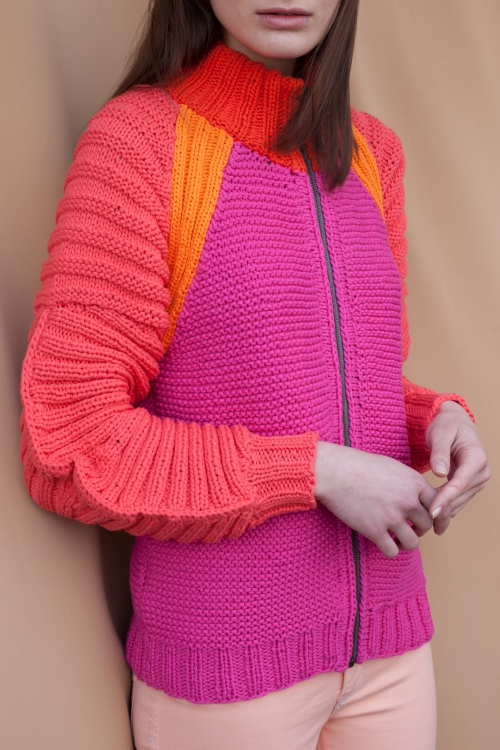 Raglan-Strickjacke - Initiative Handarbeit