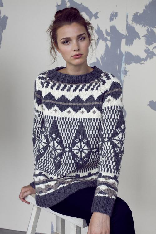 pullover mit norwegermuster für damen stricken