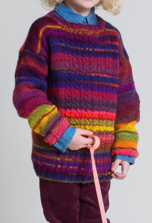Multicolor-Pullover - Initiative Handarbeit